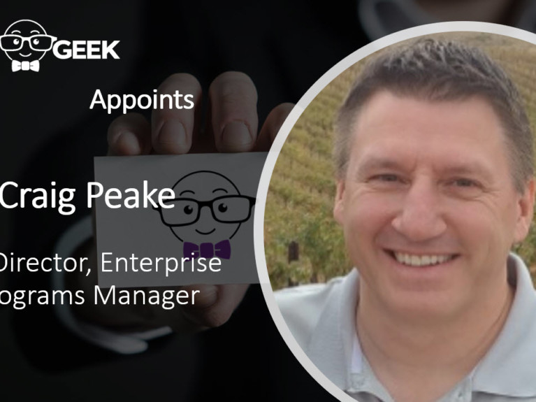 AMS Geek Appoints Craig Peake Senior Director, Enterprise Programs Manager